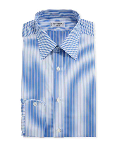 Men's Shadow-Stripe Cotton Dress Shirt