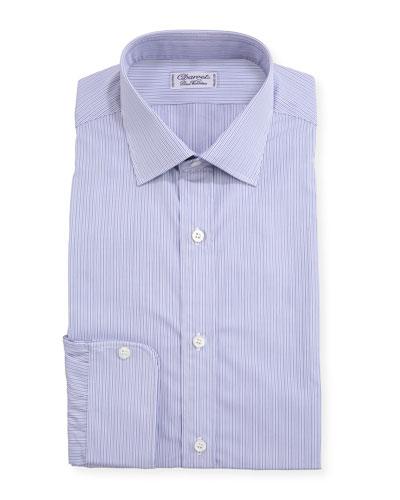 Men's Slim Darted Stripe Dress Shirt