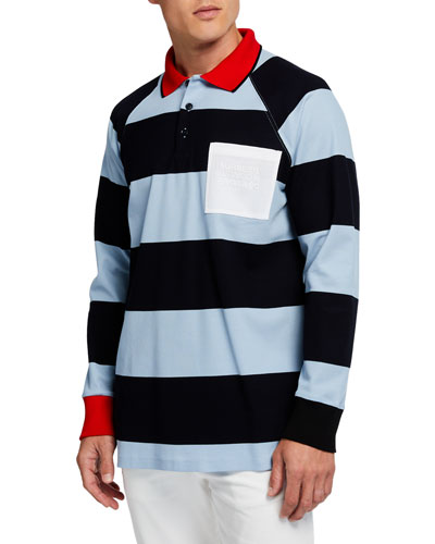 Men's Barford Striped Long-Sleeve Rugby Shirt