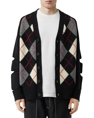 Men's Downton Argyle Cardigan