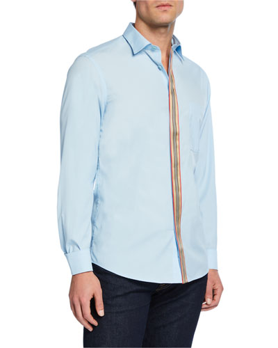 Men's Icon Striped Tape Oxford Shirt