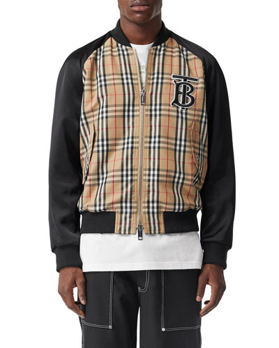 Men's Check Varsity Jacket