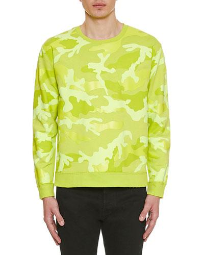 Men's Neon Camo Crewneck Sweatshirt