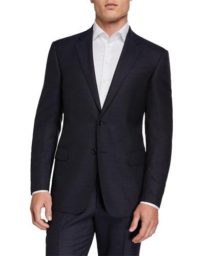 Two-Piece Virgin Wool Micro Neat Suit