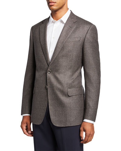Men's Micro-Weave Two-Button Jacket