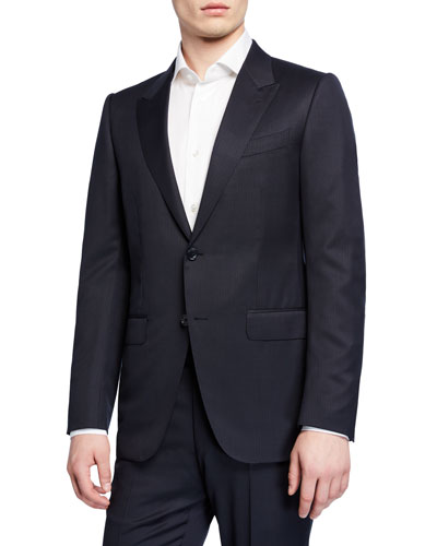 Men's Two-Piece Wool Check Suit