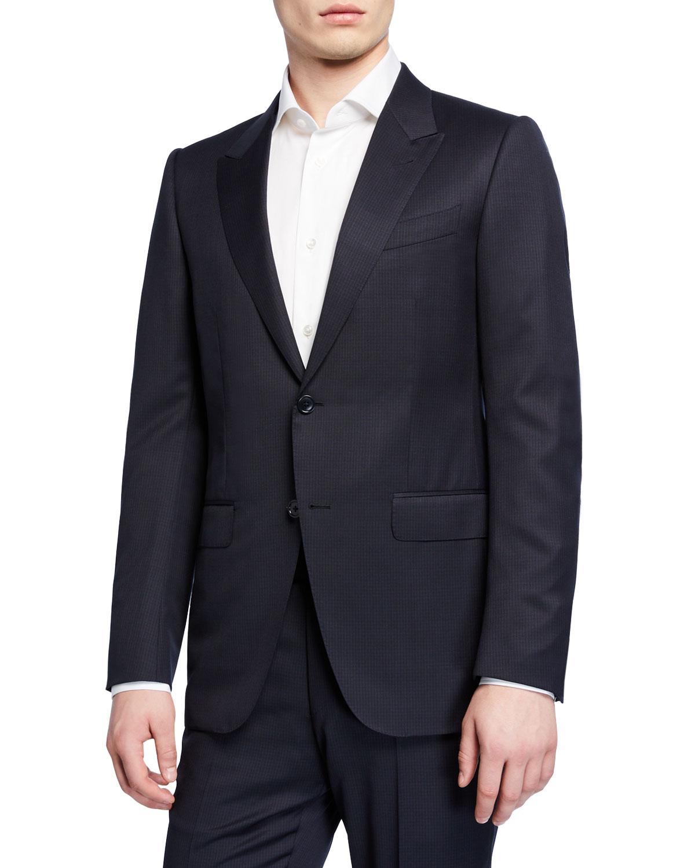 Ermenegildo Zegna Clothing MEN'S TWO-PIECE WOOL CHECK SUIT