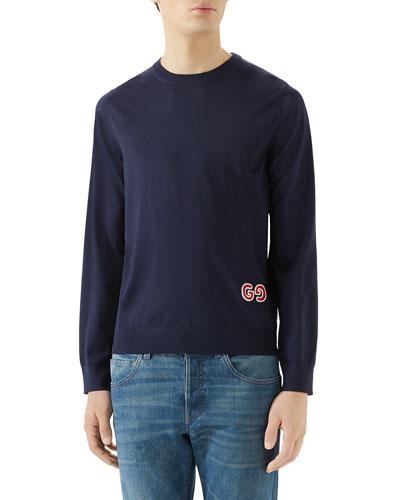 Men's Fine Knit Crewneck Sweater