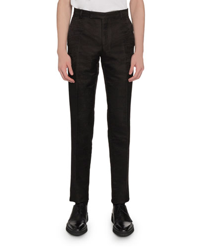 Men's Wool-Blend Scritto Jacquard Tapered Pants