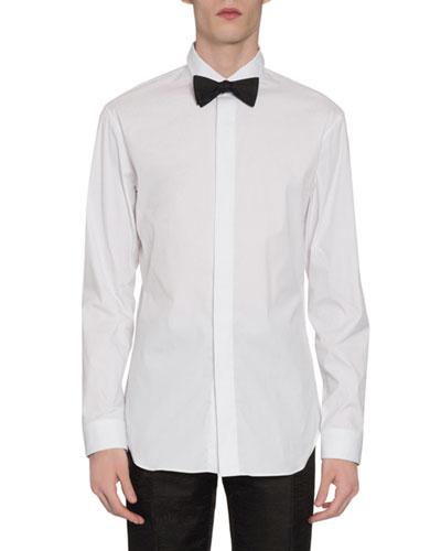 Men's Covered-Placket Sport Shirt