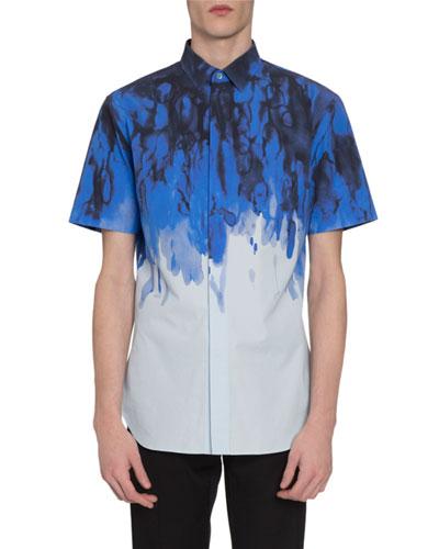 Men's Tie-Dye Short-Sleeve Sport Shirt