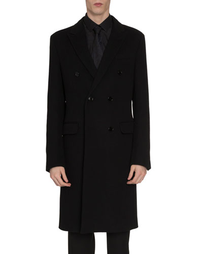Men's Double-Breasted Cashmere Coat
