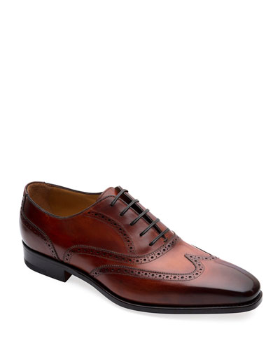 Men's Gallia Wing-Tip Oxford Shoes