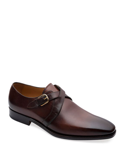 Men's Galante Cross-Strap Loafers