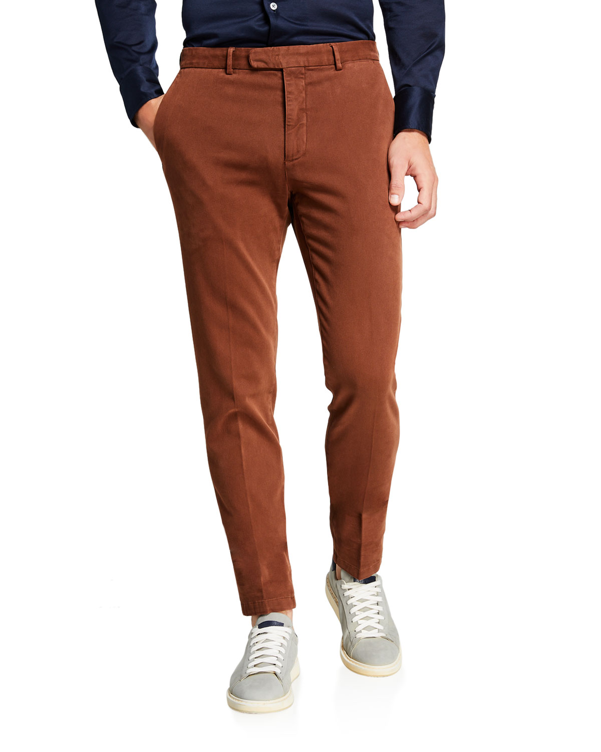 Boglioli Pants MEN'S SLIM-FIT STRETCH-COTTON TROUSERS