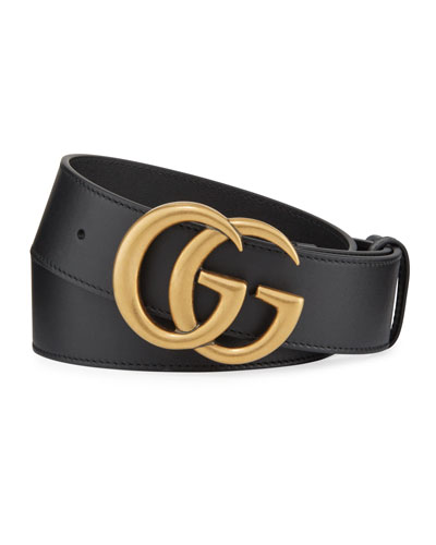 adc6b2d9e Men's Running GG Logo Leather Belt Quick Look. Gucci