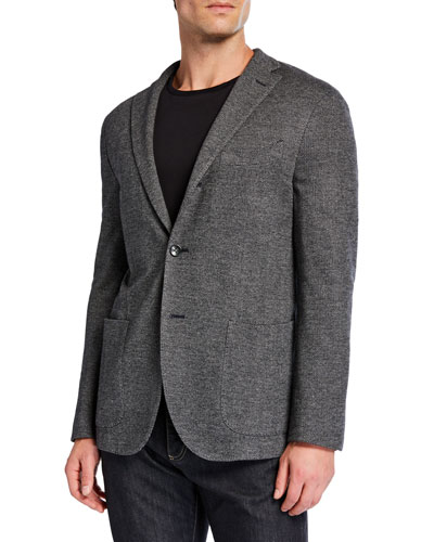 Men's Herringbone Two-Button Jacket