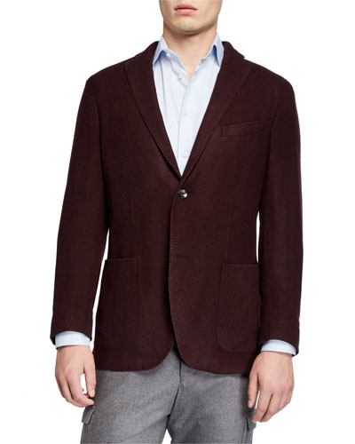 Men's Plush Wool Two-Button Jacket