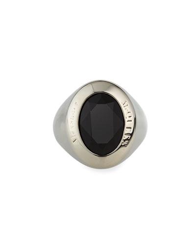 Men's Swarovski Crystal Signet Ring