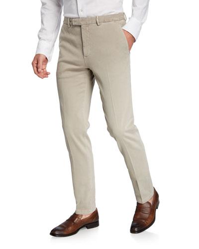 Men's Slim-Fit Stretch Cotton Trousers