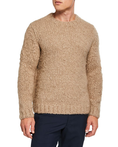 Men's Cashmere Fluff Crewneck Sweater