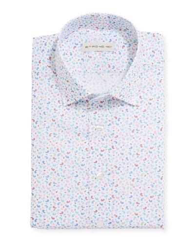 Men's Paisley Short-Sleeve Sport Shirt