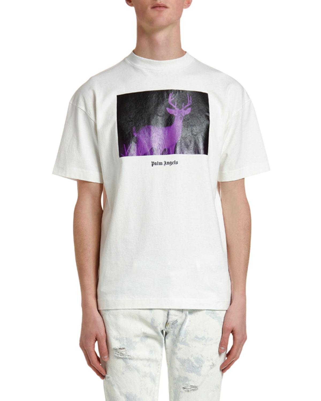 Palm Angels Cottons MEN'S NIGHT VISION DEER T-SHIRT