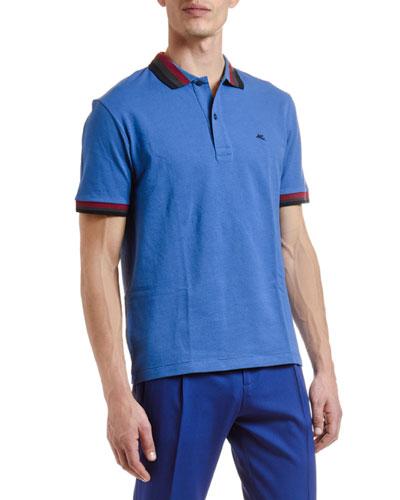 Men's Tri-Stripe Trim Polo Shirt