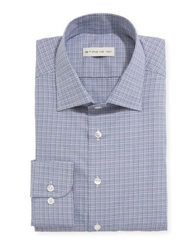 Men's Woven Check Dress Shirt