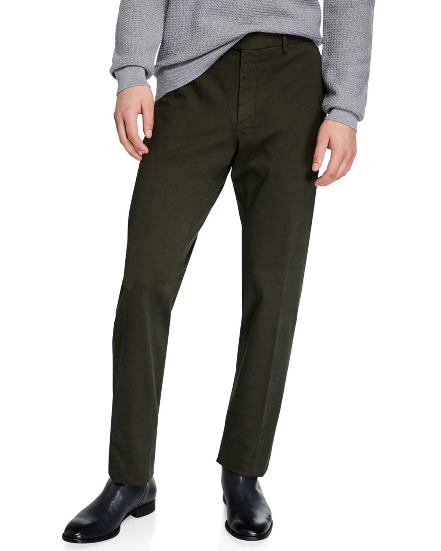 Ermenegildo Zegna Pants MEN'S GARMENT-DYED TAB TWILL PANTS