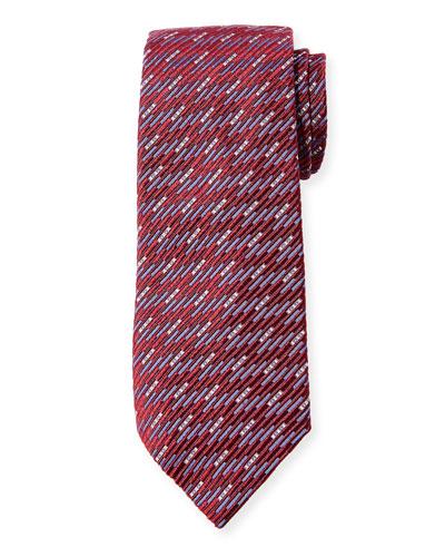 Men's Textured Mulberry Silk Tie