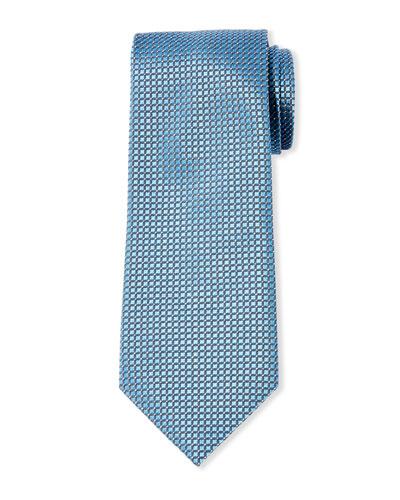 Men's Micro-Check Mulberry Silk Tie