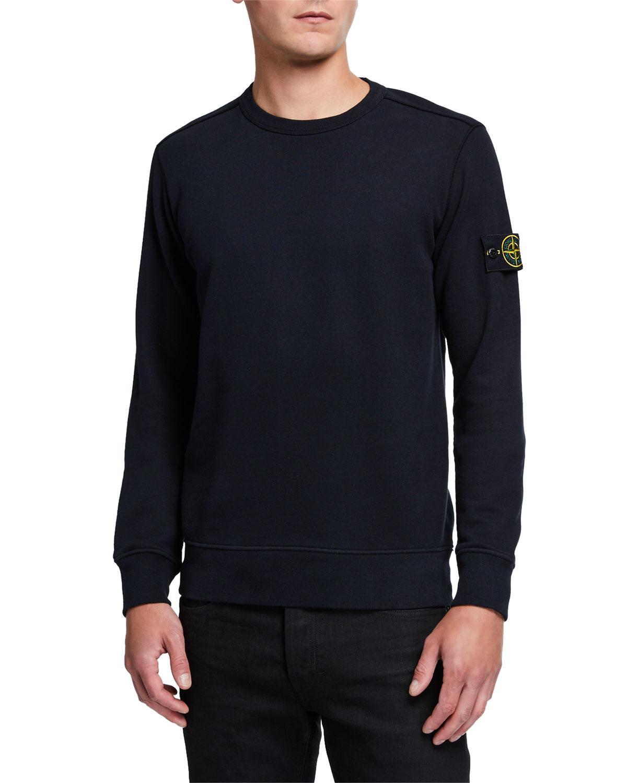 Stone Island T-shirts MEN'S CLASSIC FLEECE CREWNECK SWEATSHIRT