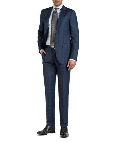 Men's Nailhead Windowpane Two-Piece Suit