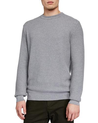 Men's Textured Cashmere-Blend Sweater