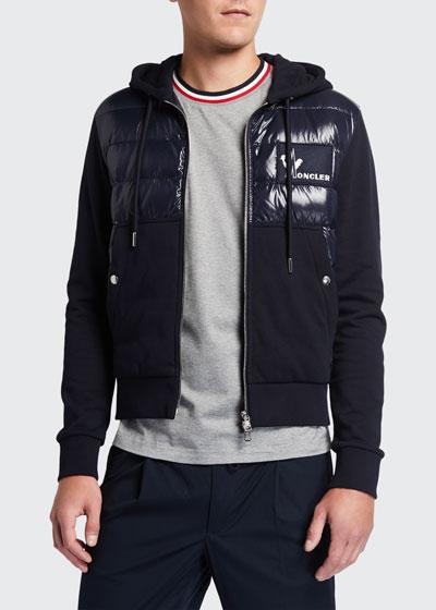 Men's Quilted Zip-Front Cardigan