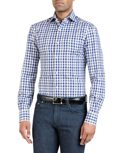 Men's Large Check Sport Shirt