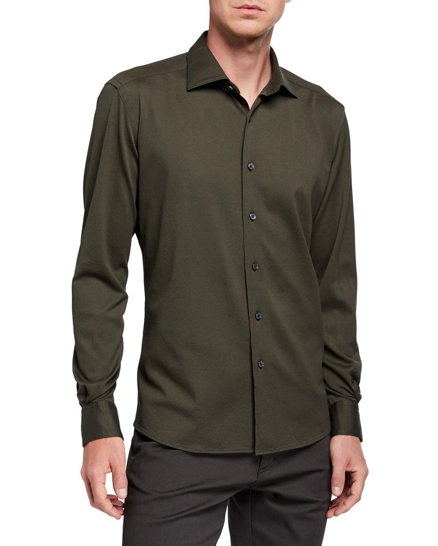 Ermenegildo Zegna T-shirts MEN'S COTTON JERSEY SPORT SHIRT