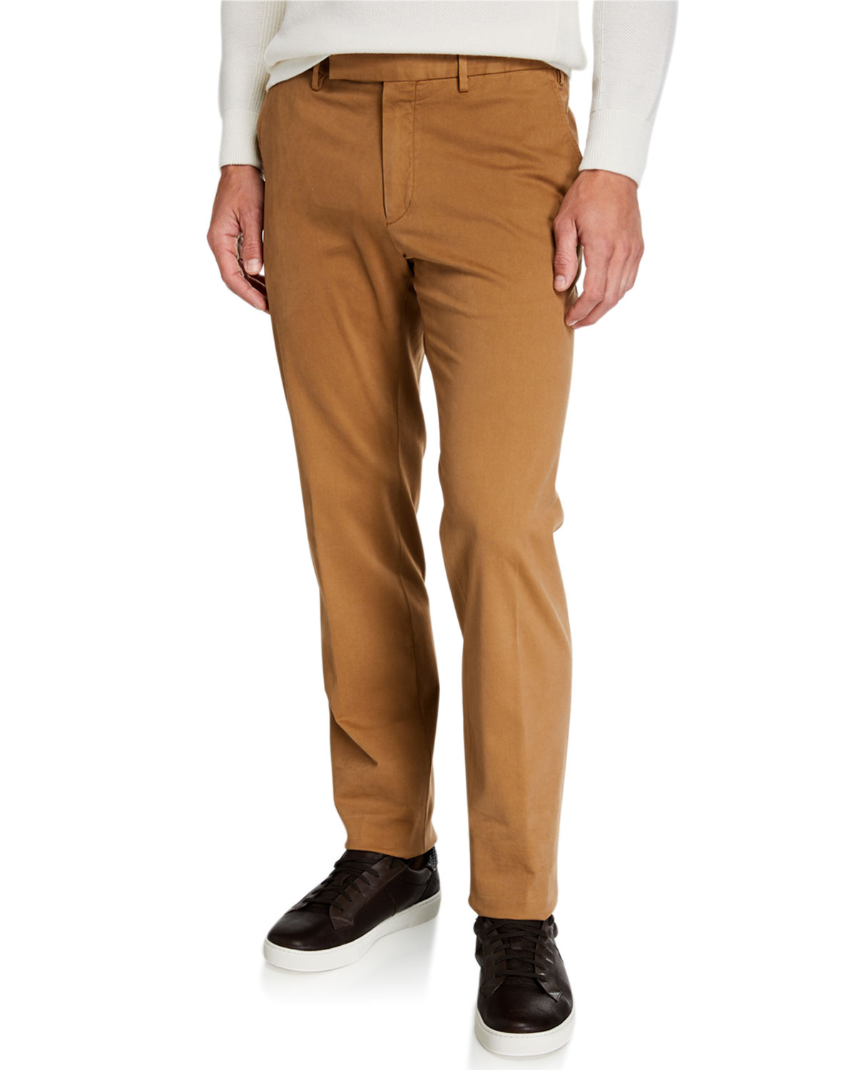 Ermenegildo Zegna Pants MEN'S GARMENT-DYED TAB TWILL PANTS