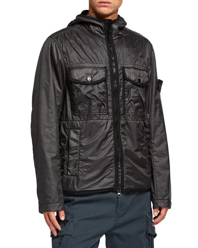 Men's Lightweight Nylon Hooded Jacket