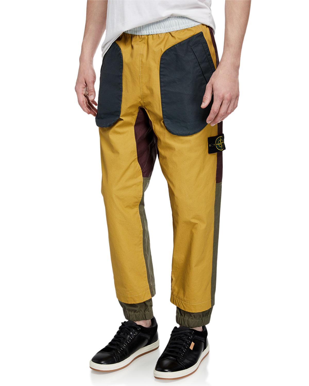 Stone Island Pants MEN'S MULTICOLOR PATCH PANTS