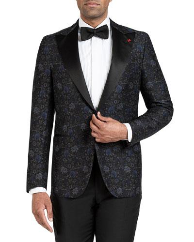 Men's Floral-Print Dinner Jacket