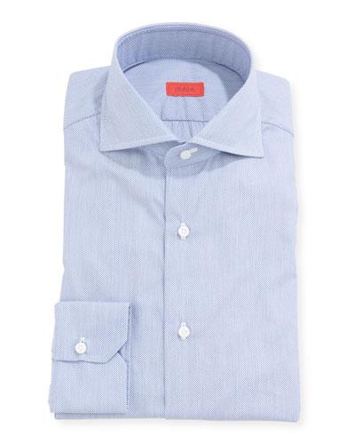 Men's Pique Cotton Dress Shirt