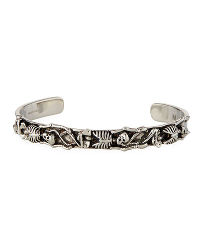 Men's Dancing Skeletons Cuff Bracelet