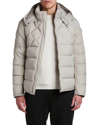 Men's Cecaud Channel-Quilted Puffer Coat