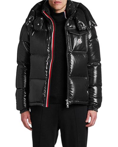 Men's Montebeliard Double-Zip Hooded Puffer Parka Coat