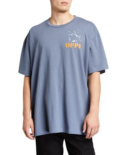 Men's Woman Portrait Graphic Short-Sleeve Over T-Shirt