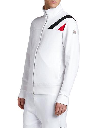 Men's Flag-Inset Zip-Front Track Jacket