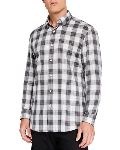 Men's Large Plaid Sport Shirt