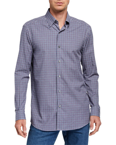 Men's Small Check Sport Shirt